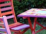 Table chaises jardin customises