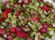 Tarte fraises-rhubarbe meringue italienne