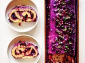 Purple cake. ROULÉ MYRTILLES, MENTHE CHOCOLAT BLANC.