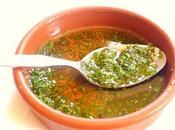recette Argentine sauce Chimichurri persil