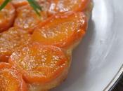 Tarte tatin abricots confit romarin