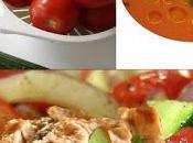 Recette salade composée poulet grillé, légumes d'été gaspacho (sans gluten)