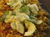 Curry Lentilles Pondichéry Salade Courgettes