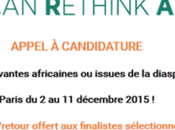 African Rethink Awards Appel candidature pour startups africaines