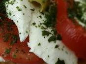 Tartines tomates, olives mozzarella