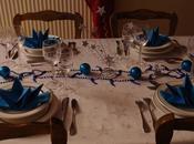 Table noel bleu-argent 2015