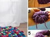 Voici comment faire joli tapis pompons