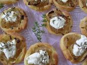 Mini tartelettes confit d'oignon/chevre frais