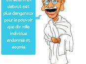 Caricature Mohandas Gandhi