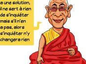 Caricature Dalaï Lama