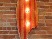 idées originales pour recycler planche surf usagée
