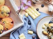 Muffins myrtilles-chocolat blanc(sans lait) sans gluten