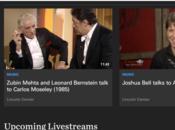nombreuses archives vidéos site Lincoln Center