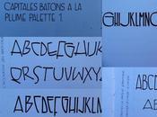 Cursus calligraphique Capitales bâton plume palette colapen