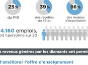 Impacts favorables d'une économie diamant maîtrisée Infographie