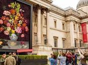 tableau fleurs fraîches l'entrée National Gallery Londres