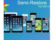 SemiRestore, restaurer iPhone iPad sans perdre jailbreak