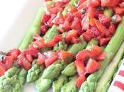 Salade d'asperges sauce fraises