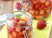 Soupe melon fraises {sirop vanille sauge ananas}
