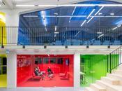 bureaux multicolores Rotterdam