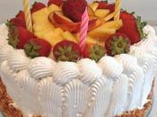 Gâteau d'anniversaire fruits