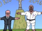 plein médailles pour François Hollande Teddy Riner
