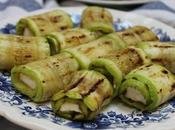 Rouleaux courgettes fromage