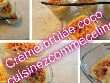 Crème brûlées vanille coco