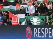 solidarité supporters écossais club football Glasgow contre israélien Hapoël Beer Sheva
