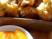 Accras cabillaud, sauce chien purée carotte
