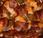 Bouchées crevettes roulées poivrons lard