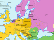Cartes étymologiques mots Europe etymology maps