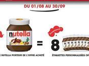 Nutella vous offre étiquettes personnalisées, avez