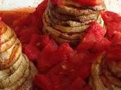 Millefeuille d'aubergine fromage brebis