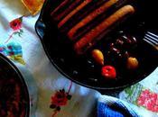 Couscous, saucisses, olives