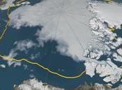 Timelapse vidéo diminution banquise arctique estivale 2016