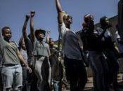 Afrique violents affrontements entre étudiants policiers Johannesburg