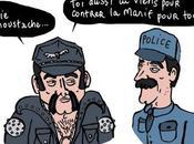 policiers manifesté cette nuit Champs Elysées