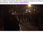 SECOURS gaugau, gaugau… flics pris l'Elysée pas) #manifpolice #antifa