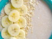 Smoothie banane flocons d'avoine