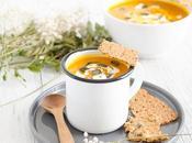 Soupe potimarron carottes crackers maisons avec blender scott