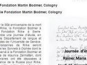 FONDATION RAINER MARIA RILKE MARTIN BODMER Cologny Jeudi Décembre 2016
