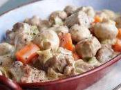 Blanquette veau champignons creme fraiche