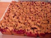 Crumb cake Pommes Framboises