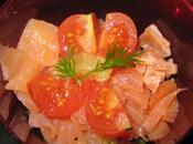 verrines saumon fumé petits légumes croquants coriandre fraiche citron vert