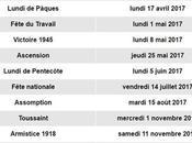 TOUS jours fériés 2017 officiels France