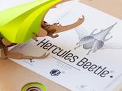Paper Beetle Sculpture