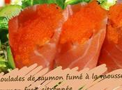 Recette roulades saumon fumé mousse frais, citronnée (Danemark)