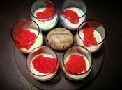 Verrines oeufs truite, yaourt grec lump ultra facile rapide