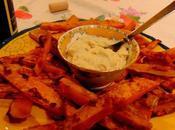 Frites patates douces avec aïoli noix cajou